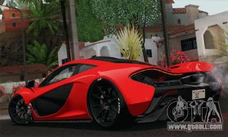 McLaren P1 HQ for GTA San Andreas left view