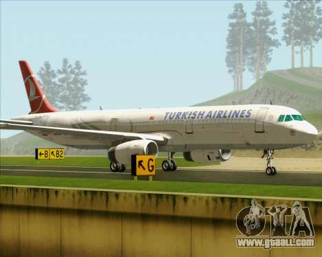 Airbus A321-200 Turkish Airlines for GTA San Andreas inner view