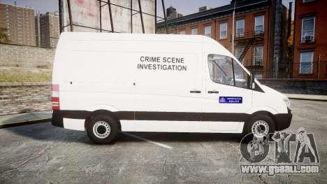 Mercedes-Benz Sprinter 311 cdi London Police for GTA 4 left view