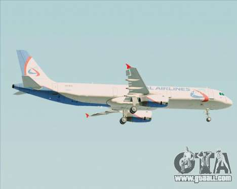 Airbus A321-200 Ural Airlines for GTA San Andreas right view