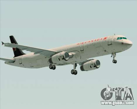 Airbus A321-200 Air Canada for GTA San Andreas inner view