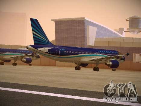 Airbus A320-214 Azerbaijan Airlines AZAL for GTA San Andreas back left view