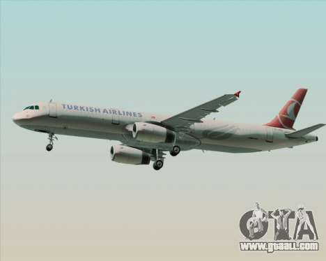 Airbus A321-200 Turkish Airlines for GTA San Andreas right view