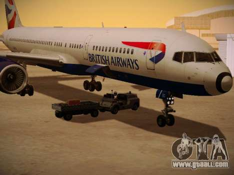 Boeing 757-236 British Airways for GTA San Andreas upper view