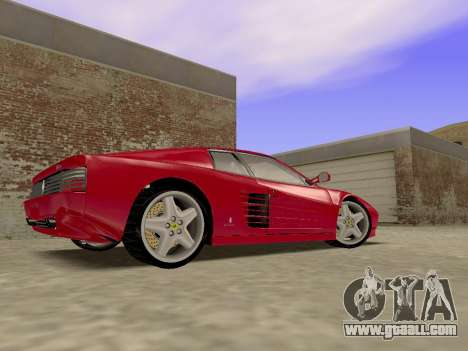 Ferrari 512TR for GTA San Andreas back left view
