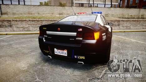 GTA V Cheval Fugitive LS Police [ELS] for GTA 4 back left view
