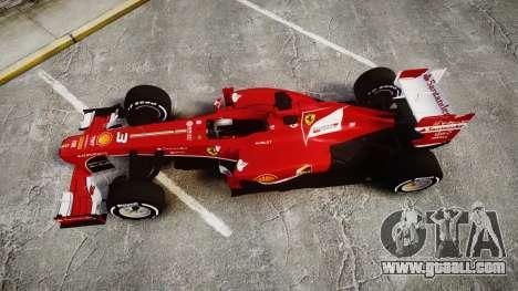 Ferrari F138 v2.0 [RIV] Alonso TMD for GTA 4 right view