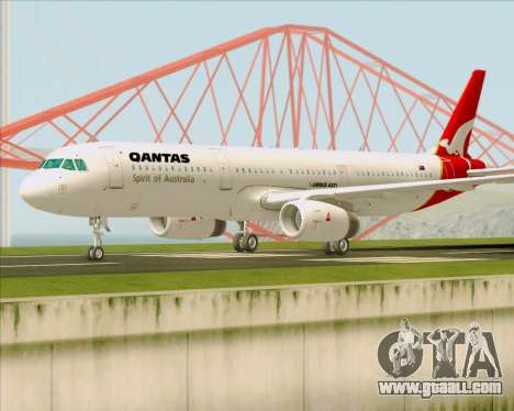 Airbus A321-200 Qantas for GTA San Andreas left view