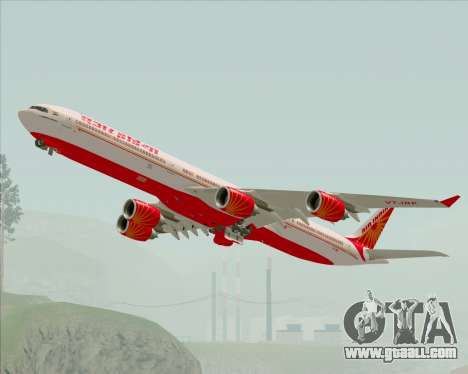 Airbus A340-600 Air India for GTA San Andreas side view
