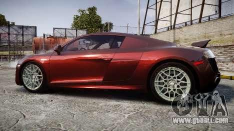 Audi R8 2010 Rotiform BLQ for GTA 4 left view
