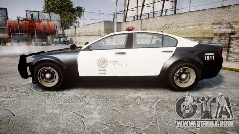 GTA V Cheval Fugitive LS Police [ELS] for GTA 4 left view