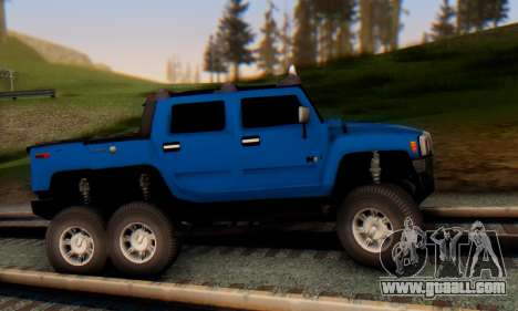 Hummer H6 Sut Pickup for GTA San Andreas back left view