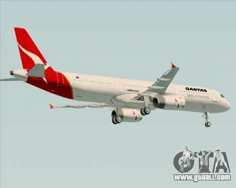 Airbus A321-200 Qantas for GTA San Andreas back view