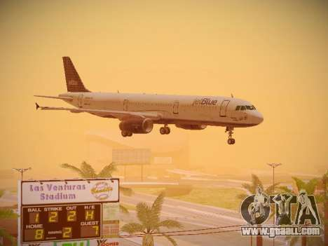 Airbus A321-232 jetBlue Woo-Hoo jetBlue for GTA San Andreas side view