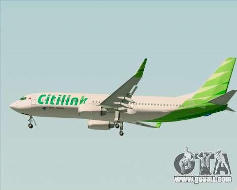 Boeing 737-800 Citilink for GTA San Andreas interior