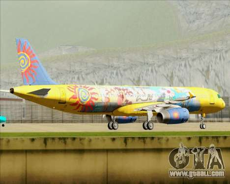 Airbus A321-200 for GTA San Andreas side view