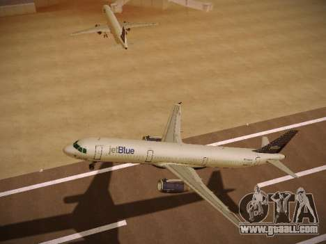 Airbus A321-232 jetBlue Woo-Hoo jetBlue for GTA San Andreas back view