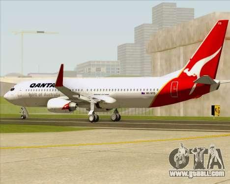 Boeing 737-838 Qantas (Old Colors) for GTA San Andreas