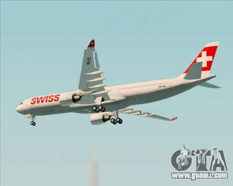 Airbus A330-300X Swiss International Air Lines for GTA San Andreas inner view
