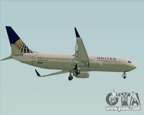 Boeing 737-824 United Airlines for GTA San Andreas right view