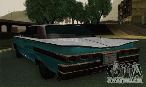Declasse Voodoo for GTA San Andreas back left view