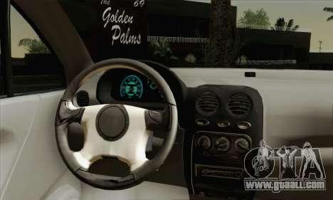 Daewoo Matiz Tuned for GTA San Andreas back left view