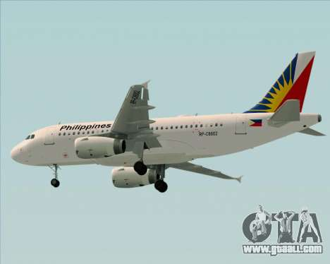Airbus A319-112 Philippine Airlines for GTA San Andreas back view