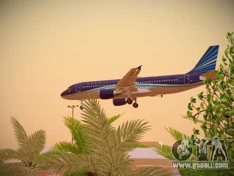 Airbus A320-214 Azerbaijan Airlines AZAL for GTA San Andreas side view