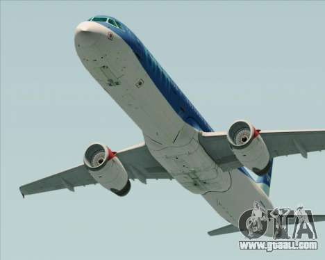 Airbus A321-200 British Midland International for GTA San Andreas back left view