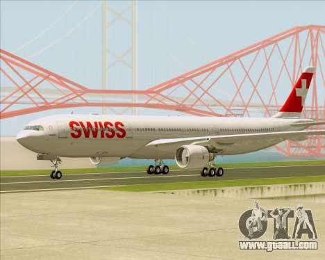 Airbus A330-300X Swiss International Air Lines for GTA San Andreas right view
