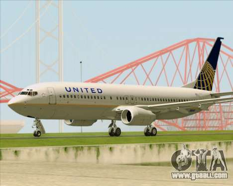 Boeing 737-824 United Airlines for GTA San Andreas inner view