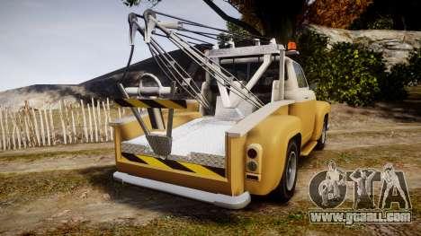 Vapid Tow Truck Jackrabbit v2 for GTA 4 back left view