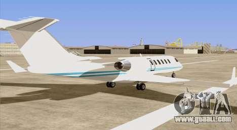 Buckingham Shamal GTA V for GTA San Andreas left view