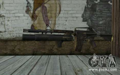 CAR-15 with XM-148 from Battlefield: Vietnam for GTA San Andreas