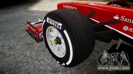 Ferrari F138 v2.0 [RIV] Alonso TMD for GTA 4 back view