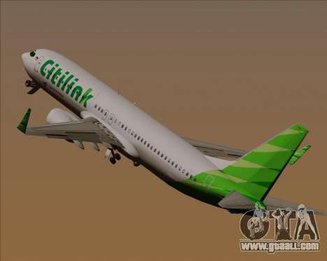 Boeing 737-800 Citilink for GTA San Andreas wheels
