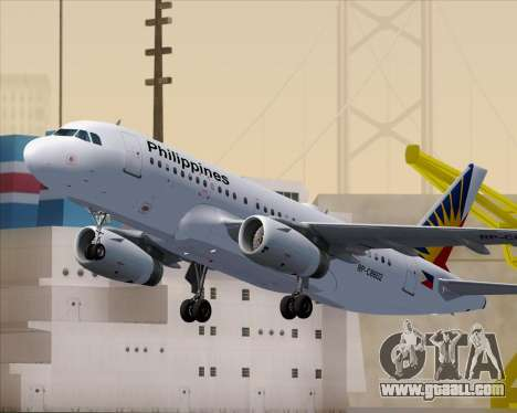 Airbus A319-112 Philippine Airlines for GTA San Andreas wheels