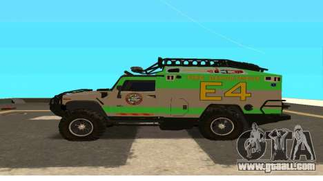 Hummer H2 Ratchet Transformers 4 for GTA San Andreas left view