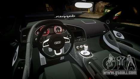 Audi R8 2010 Rotiform BLQ for GTA 4 inner view