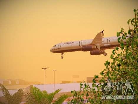 Airbus A321-232 jetBlue Woo-Hoo jetBlue for GTA San Andreas upper view