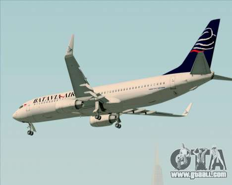 Boeing 737-800 Batavia Air for GTA San Andreas engine
