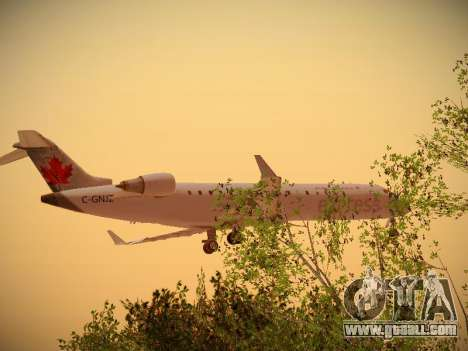 Bombardier CRJ-700 Air Canada Express for GTA San Andreas back left view