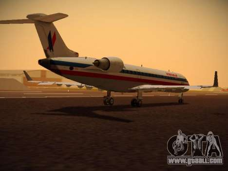 Bombardier CRJ-700 American Eagle for GTA San Andreas back view
