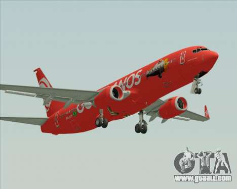 Boeing 737-800 Gol Transportes Aéreos for GTA San Andreas left view