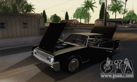 Lincoln Continental Sedan (53А) 1962 for GTA San Andreas upper view