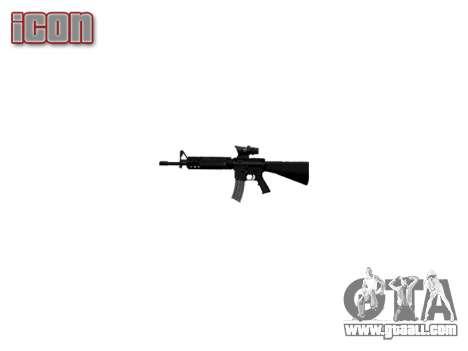 Rifle M16A4 ACOG for GTA 4 third screenshot