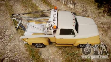 Vapid Tow Truck Jackrabbit v2 for GTA 4 right view