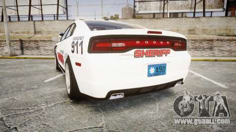 Dodge Charger RT 2013 LC Sheriff [ELS] for GTA 4 back left view