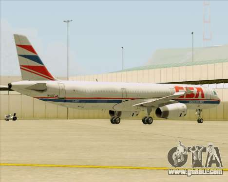 Airbus A321-200 CSA Czech Airlines for GTA San Andreas engine