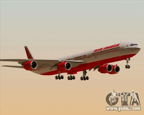 Airbus A340-600 Air India for GTA San Andreas bottom view